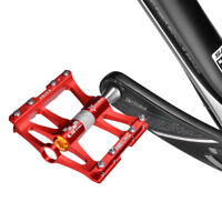 ROCKBROS Bicycle Road Bike Cycling 4 Sealed Bearing Aluminum Alloy Pedals Red