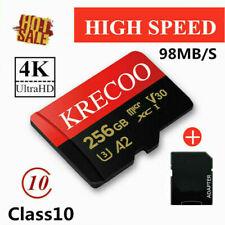 KRECOO 256GB 128GB 64GB Ultra-Speicherkarte Class10 98 MB/s Flash TF Mit Adapter