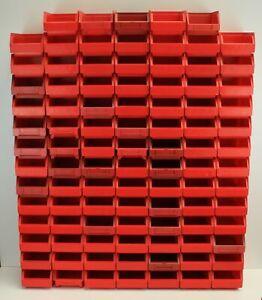 Sichtlagerkasten Stapelkisten Boxen Lagerfächer rot gebraucht 15x10x8  Stapelbox