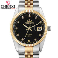 CHENXI Original Men Watch Classic Top Quartz Watch Stainless Steel Watches Gift