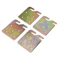 "4Pcs 2"" Universal Galvanized Wood Bed Rail Bracket Metal Claw Hook Plates"