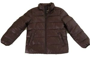 Crewcuts Everyday Boys Maroon Down Filled Puffer Coat Full Zip Jacket Size 8
