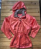 Vintage Carerra Women's Half Zip/snap Up Ski Jacket Coat Size S Coral Pink G4