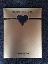 Victoria's Secret Silky Sheer Lace Panty Pantyhose Jet Black Medium
