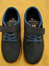 Etnies Boy's Size 1 Jameson 2 ECO Blue Canvas Gum Bottom - EUC
