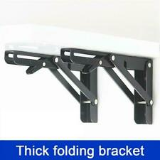 "2X Wall Mount Folding Table Bracket Shelf Bench 8"" Black Baking Steel Triangular"