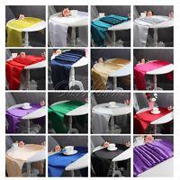 "12""x108"" Satin Table Runner Tablecloth Cover Wedding Party Banquet Home Decor"