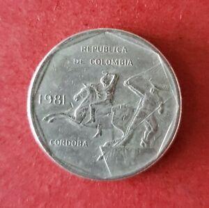 "1981.  Republic of Colombia 10 Pesos Coin.  "" VERY RARE ""  🤺."