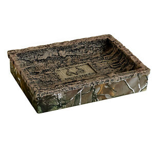 Realtree Xtra Soap Dish Resin Camouflage Rustic Country Mountain Cabin Unisex