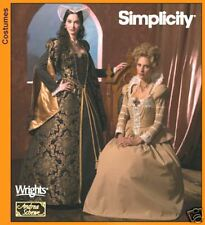 Simplicity 4508 OOP Royal Tudor Gowns Pattern Sz 8-14