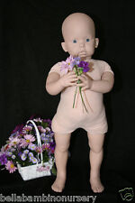 "DoLL BoDy for 3/4 Limb 30"" StAnDiNg ToDdLeR DoLL ~ REBORN DOLL SUPPLIES 6569"