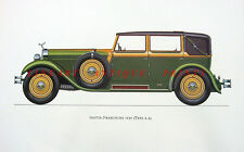 ISOTTA-FRASCHINI TIPO 8-A Classic Luxury Sports Motor Car ~ Large Old Art Print