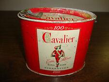 Cavalier Cigarette Tin---100 King Size---Empty---1950's