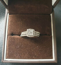 Stunning White Gold & Diamond Cluster Engagement Ring