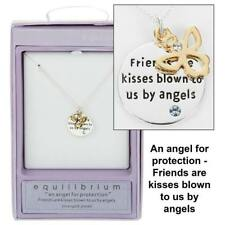 SILVER PLATED ANGEL PENDANT NECKLACE - Friend gift 49773