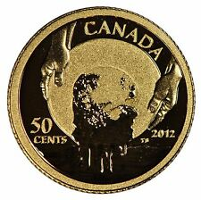 2012 Canada 50 cent Gold Coin - 150th Anniv of Caribou Gold Rush Case & COA