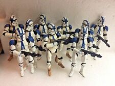 9 Clone Trooper Army Builder Lot Star Wars Figure 501st Legion Vader Anakin Blue