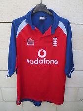 VINTAGE Maillot cricket ANGLETERRE ENGLAND Admiral shirt ECB Vodafone L rouge