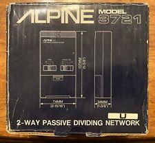 New PAIR Old School Alpine 2-way Passive Dividing Network,rare,NOS,NIB,Crossover