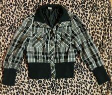 Black & White Check Jacket / Coat Age 11/12
