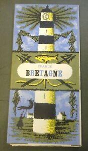 "DEPLIANT PUBBLICITARIO "" FRANCE BRETAGNE "" 1950ca"