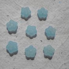 CZECH GLASS ~ 50 Flower Spacer Beads ~ Aqua