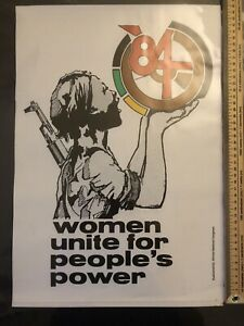 ANC Poster 'Women Unite For People's Power' 1984 Political Poster