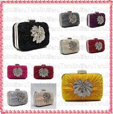 Clasp Floral Satin Outer Clutch Bags