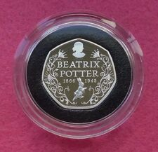 2016 Beatrix Potter 150TH Anniversaire Argent Proof 50P Cinquante Pence Coin Box