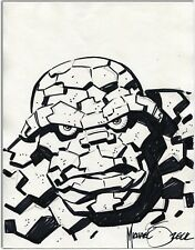 The Thing , Michael Zeck, Original Pencil, Ink, Marker Drawing, Bristol, NM. Comic Art