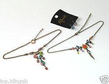 Lote al por mayor; 50 collares, pulseras, pendientes y anillo conjunto de Cristal.. muchos