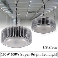 100W 200W LED High/Low Bay Lights Commercial Warehouse Factory Shop GYM Lighting
