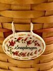 Longaberger Snapdragon Basket With Liner & Protector