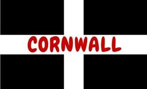 Cornwall Fridge Magnet 7.3  x 4.8 cm  Made in Cornwall, Cornish flag.