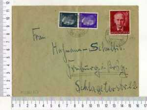 A9411) GERMANY 10.8.1943 Cover Bergen Friburg