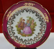 LIMOGES  LA REINE PLATE A67 FRAGONARD COURTING COUPLE SCENE