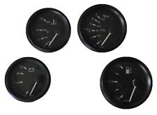 4 Gauge set with senders,VDO type, Metric primary, 60mm, Oil,Temp,Fuel,Volt, 24V