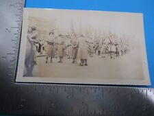 Vintage Woman Marching American Flags B & W Picture Image Trench Coats S3907
