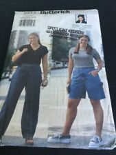 Butterick Jeans And Denim Shorts Pattern # 5953 Size 22W-24W-26W Retro From 1999