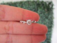.133 CTW Diamond Engagement Ring 18k White Gold ER472 sep
