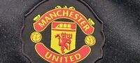 Nike Manchester United Track Jacket Mens Size S Soccer Warm Up Jersey Black