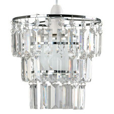 Modern 3 Tier Ceiling Pendant Light Shade With Clear Acrylic JEWEL Effect