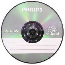 Philips DVD-RW 120 Mins 4.7GB 4x Speed Recordable Blank Discs  2 discs in Sleeve