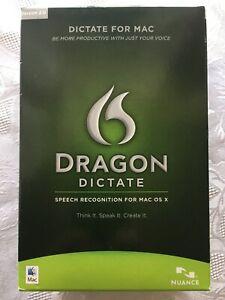 Dragon Dictate MAC 2.0 Software NIB Sealed Speech Recognition MAC OS X