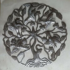 """Metal Tree of Life with Birds Modern Metal Wall Art Ideas For Wall Hangings 24"""""""