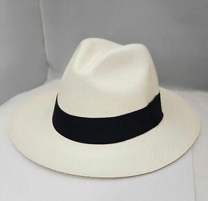 Straw Panama Hat Genuine Ecuador 100% Natural Travel Summer Sun Protection Hat