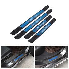4PCS Black Rubber Car Door Scuff Sill Cover Panel Step Protector For Mitsubishi