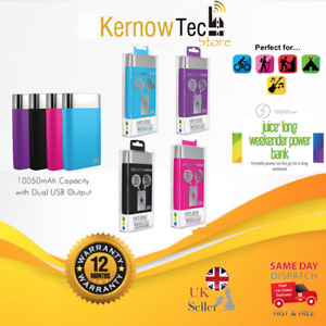 JUICE Smart Portable Powerbank LONG WEEKENDER 10,050mAh Battery Smartphone NEW