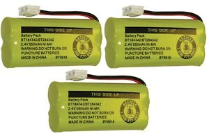 New! Battery BT184342 BT284342 for AT&T Vtech GE RCA and Clarity Phones (3 Pack)