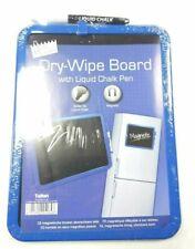 A4 Magnetic Dry Wipe Board w/ Bullet Tip Liquid Chalk Pen Kitchen Fridge Memo